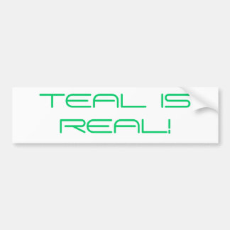 TEAL bumper sticker