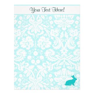 Teal Bunny Letterhead Design