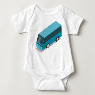Teal Bus Baby Bodysuit