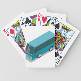 Teal Bus Bicycle Playing Cards