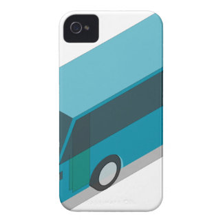 Teal Bus iPhone 4 Case