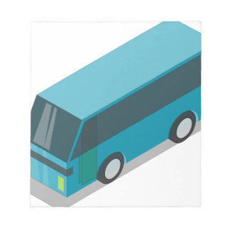 Teal Bus Notepad