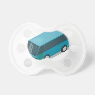 Teal Bus Pacifier