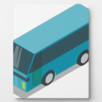 Teal Bus Plaque
