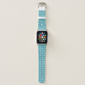 Teal Butterfly and Dragonfly Pattern Apple Watch Band
