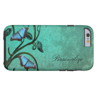 Teal Butterfly Pair Tough iPhone 6 Case