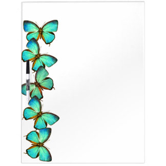 Teal Butterfly Wildlife Animals Dry Erase Board
