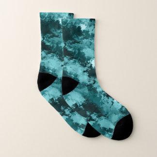 Teal Camo Camouflage Socks