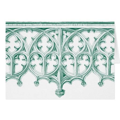 Teal Cathedral Note Cards
