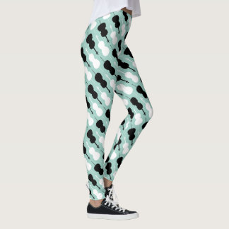 Teal Cello Pattern Leggings