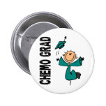 Teal CHEMO GRAD 1 (Ovarian Cancer) Pin
