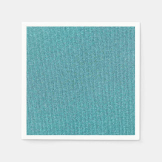 Teal Chenille Paper Napkin