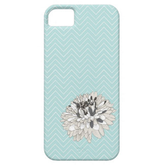 Teal Chevron chrysanthemum pattern iPhone 5 Cover