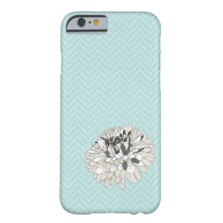 Teal Chevron chrysanthemum pattern iPhone 6 case Barely There iPhone 6 Case
