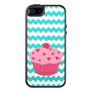 Teal Chevron Cupcake OtterBox iPhone 5/5s/SE Case