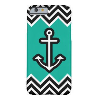 Teal Chevron Nautical Barely There iPhone 6 Case