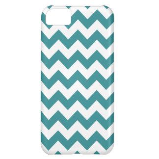 Teal Chevron Pattern iPhone 5C Case