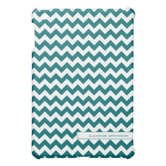 Teal Chevron Personalized iPad Mini Cases
