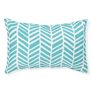 Teal Chevron Pet Bed Small Dog Bed