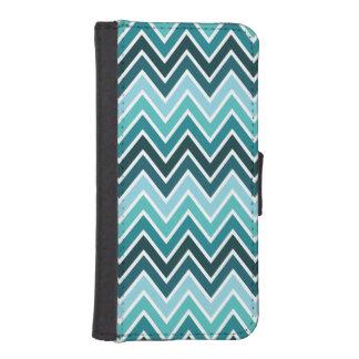 Teal Chevron Stripe iPhone 5 Wallet