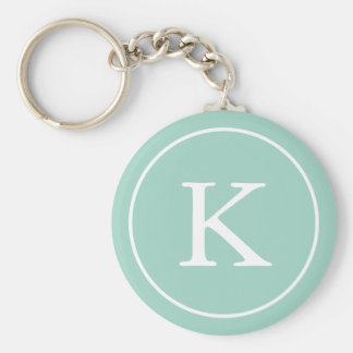 Teal Circle | Monogram Initial Keychain