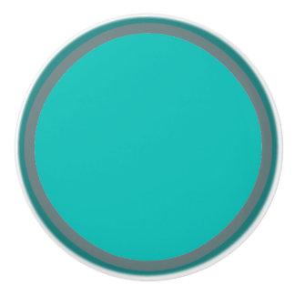 Teal Circles Multi Colored Knob
