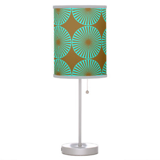 Teal Circles Table Lamp