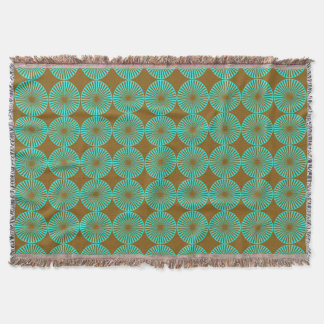 Teal Circles Throw Blanket