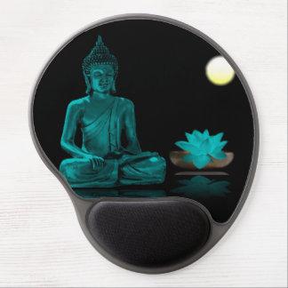 Teal Colour Buddha Meditating at Night Mousepad