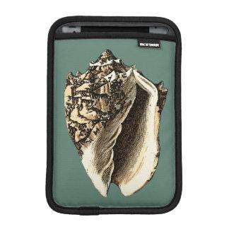Teal Conch Shell iPad Mini Sleeve