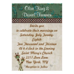Teal & Copper Giraffes  Wedding Invitation