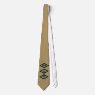 Teal & Copper Retro Diamond Trio Tie