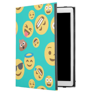"Teal Crazy Emoji Pattern iPad Pro 12.9"" Case"