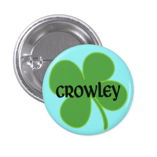 Teal Crowley Pin with Shamrock
