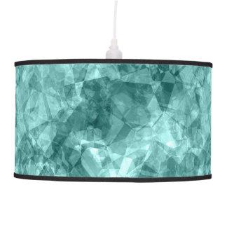 Teal Crumpled Texture Pendant Lamp