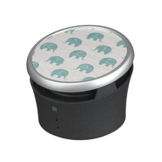 Teal Cute Elephant Pattern Speaker