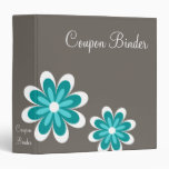 Teal Daisy Flowers Coupon Organizer