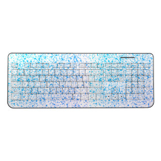 Teal Dalmatian Keyboard