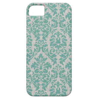 Teal Damask iPhone Cases