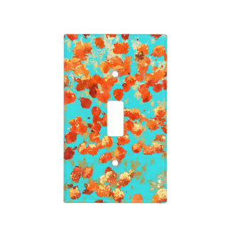 Teal Decor Light Switch Cover