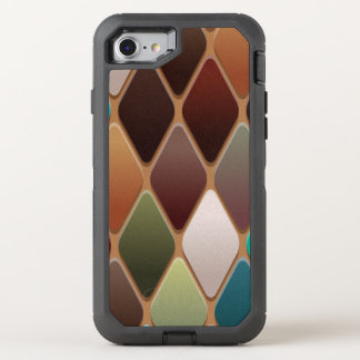 Teal Diamond Mosaic OtterBox Defender iPhone 8/7 Case