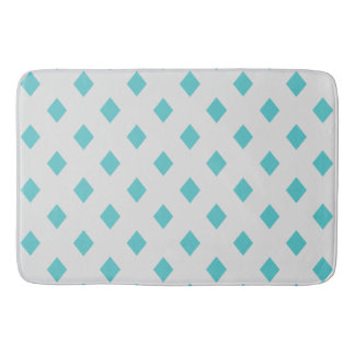Teal Diamonds with Any Color Background Bathroom Mat