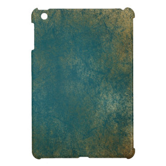 Teal Distressed Gold Texture Laptop Case iPad Mini Cover