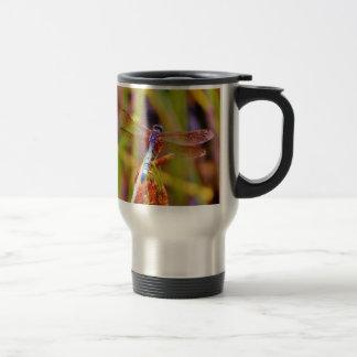 Teal Dragonfly on sedge Mugs