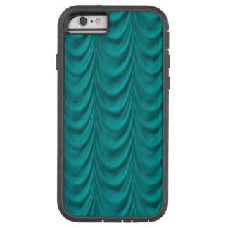 Teal Drape Curtain Plush Fabric Tough Xtreme iPhone 6 Case