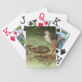 Teal Duck Birds Wildlife Animal Pond Playing Cards