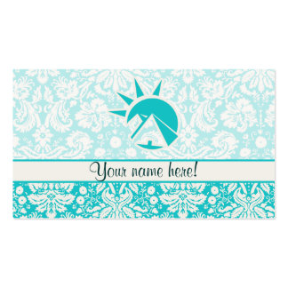 Teal Egyptian Pyramid Pack Of Standard Business Cards
