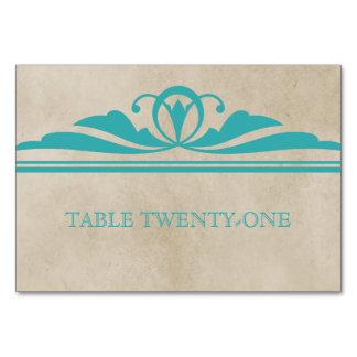 Teal Elegant Deco Table Card