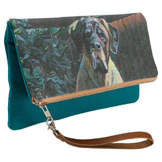 Teal English Mastiff (Boo) Clutch