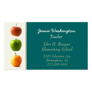 Teal et le carte de visite du professeur de pommes